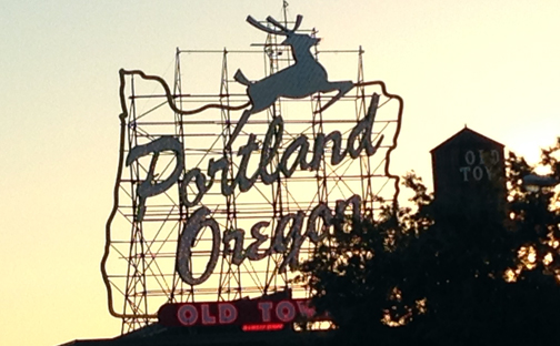 oregon portland sign