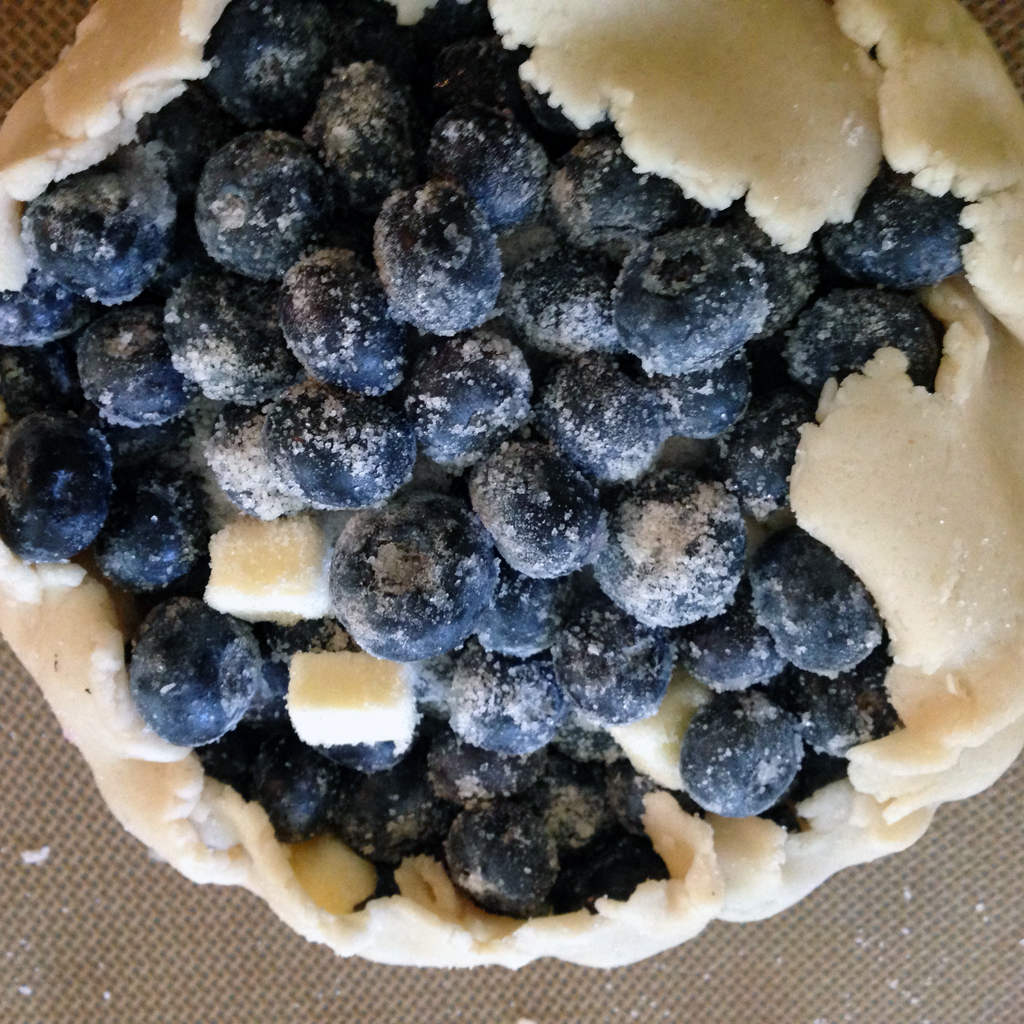 tiny blueberry tart, free-form for added ugliness
