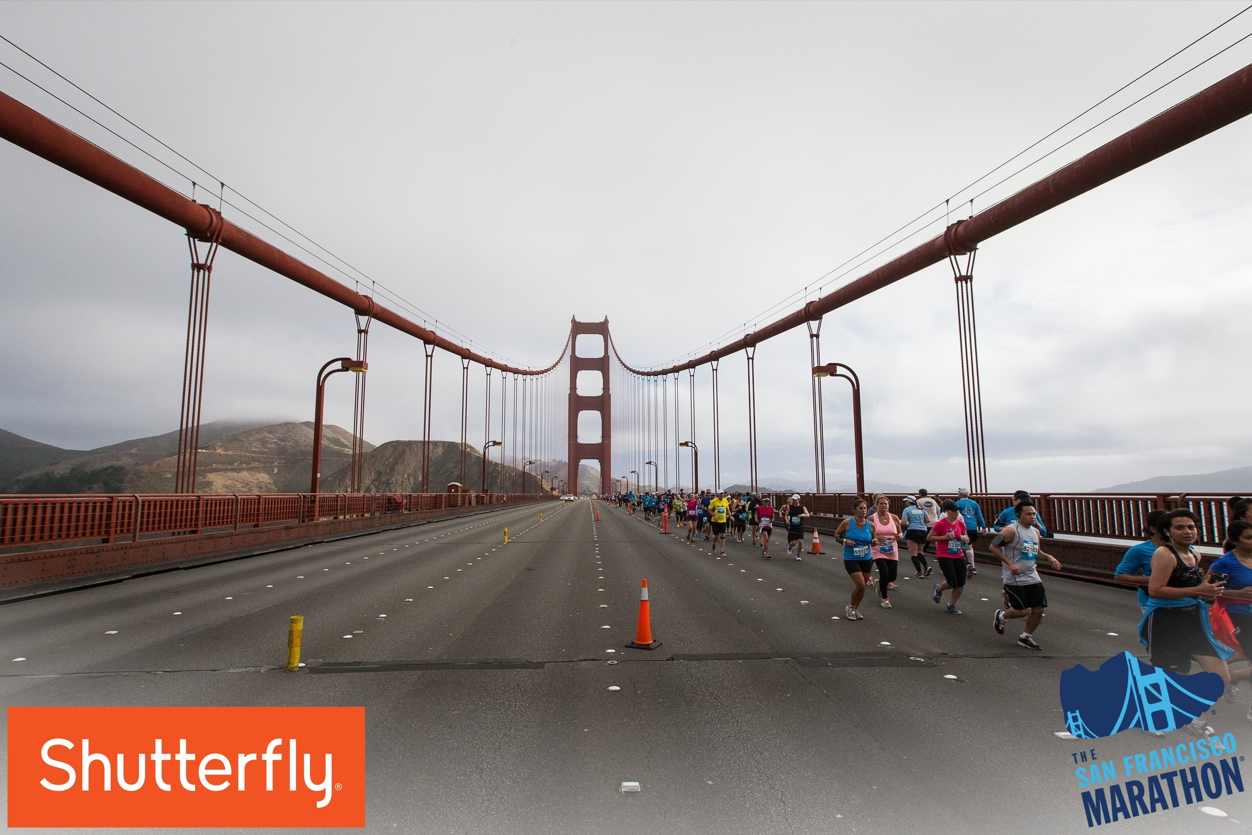 I'm in there somewhere. Photo courtesy of The San Francisco Marathon.
