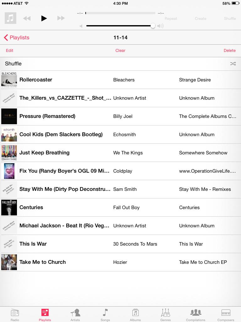 playlist 11-14