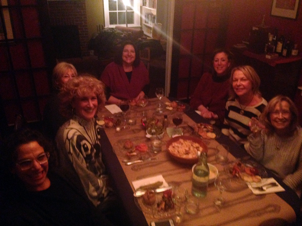 The Very Fine Ladies of Book Club, ready to dish on some knishes.