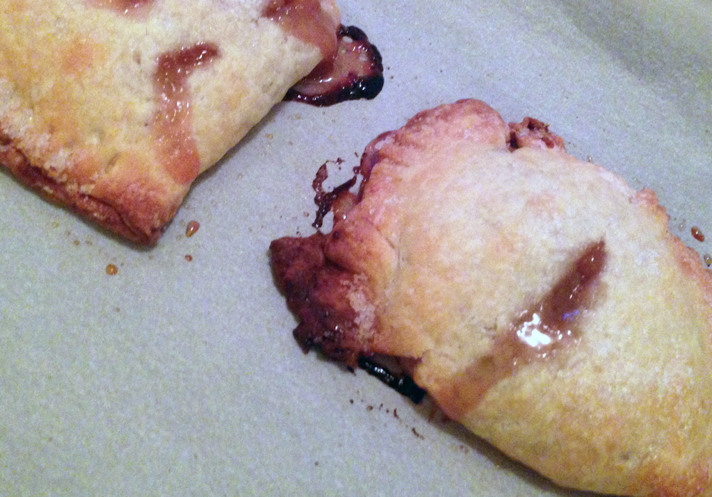 Rhubarb and peach hand pies.