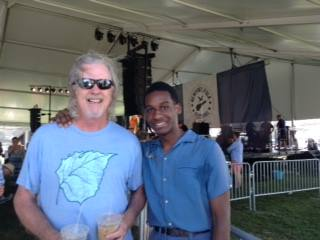 My brother Steve and Leon Bridges at the Newport Folk Festival.