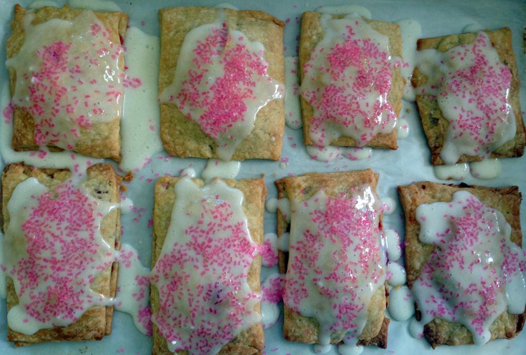 Perhaps the ugliest rhubarb pop tarts on record.