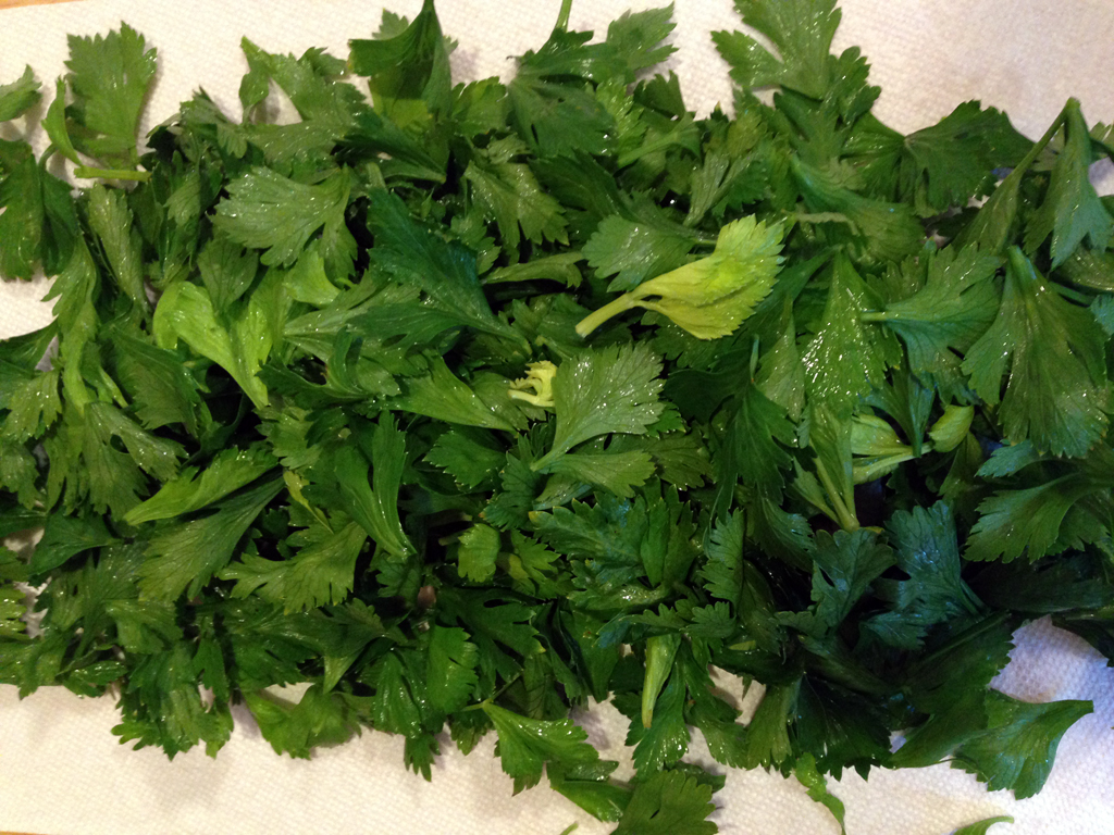 What to do with celery leaves?
