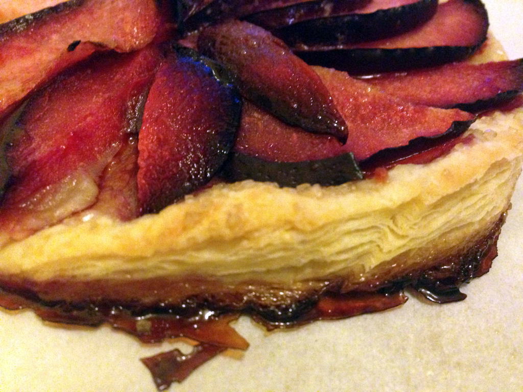 Pastry glamour shot: plum galette.