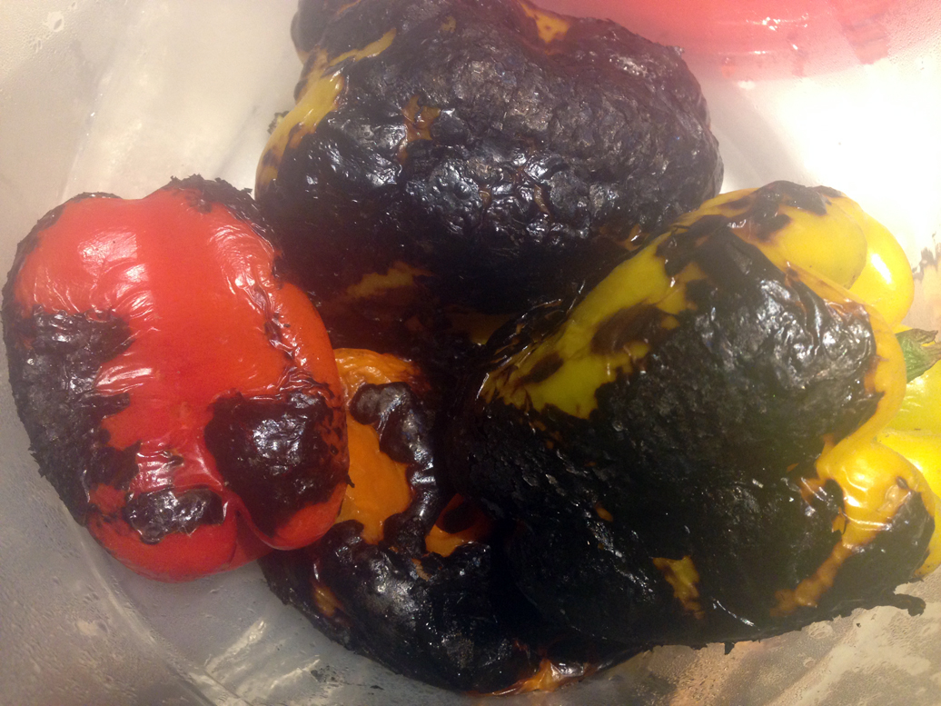 Steamy blistered peppers.