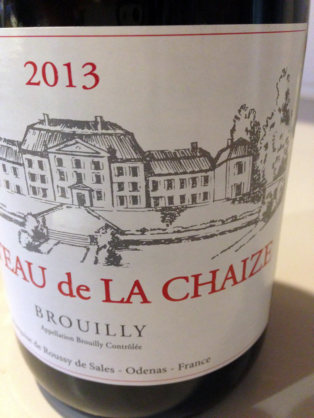 I love a Brouilly. This one exhibited a delightful perfume of blueberries, cherries, raspberries and currants.