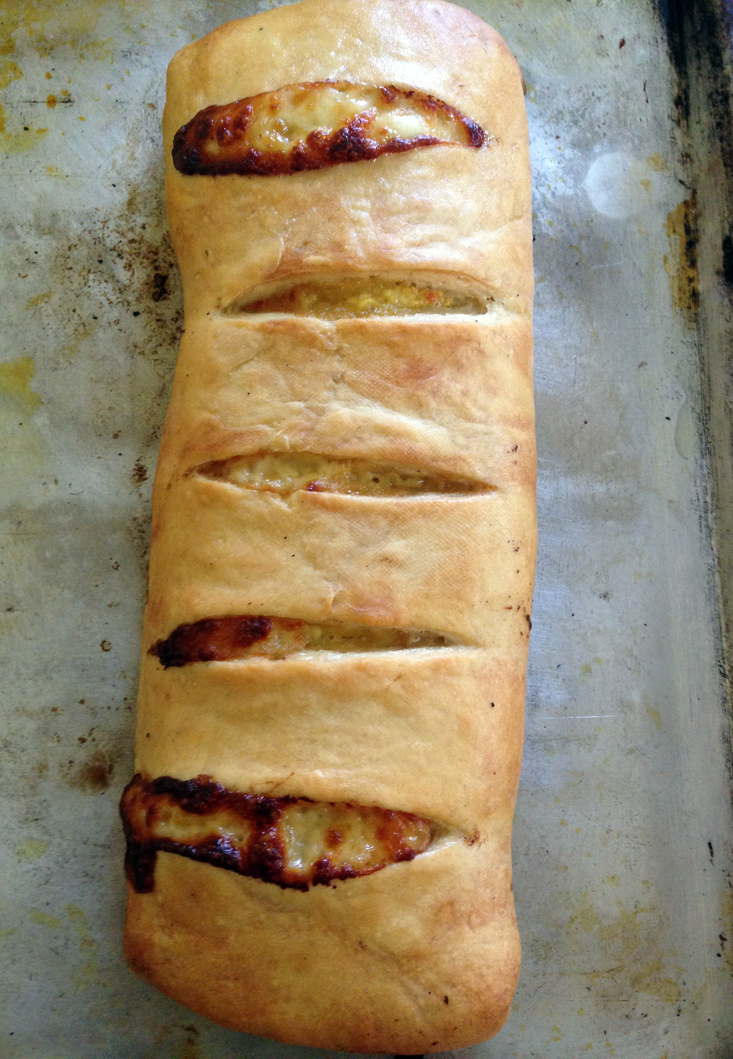 Is it a stromboli or a mummy?