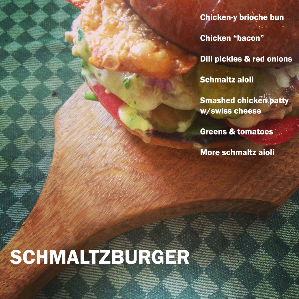 And here's how you assemble a schmaltzburger.